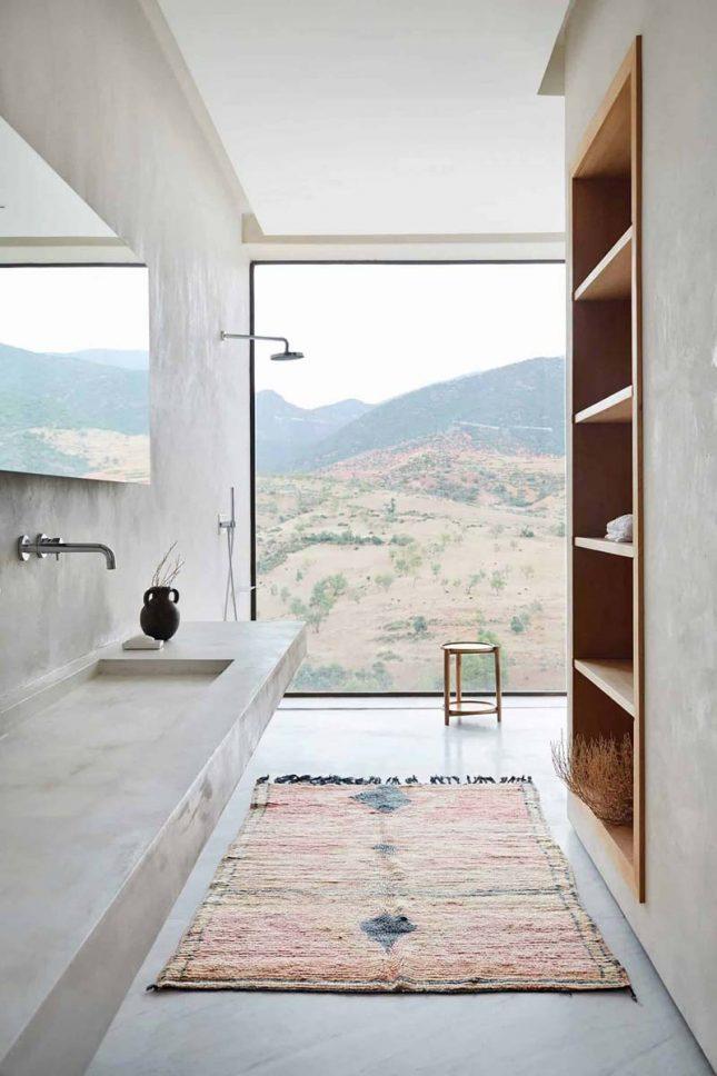 moderne badkamer tadelakt muren