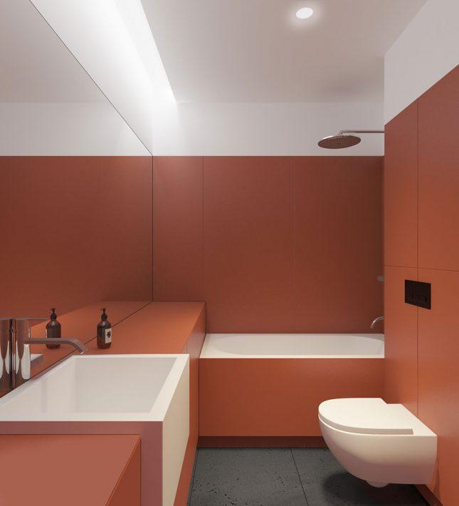 Moderne badkamers voorbeelden strakke wandpanelen