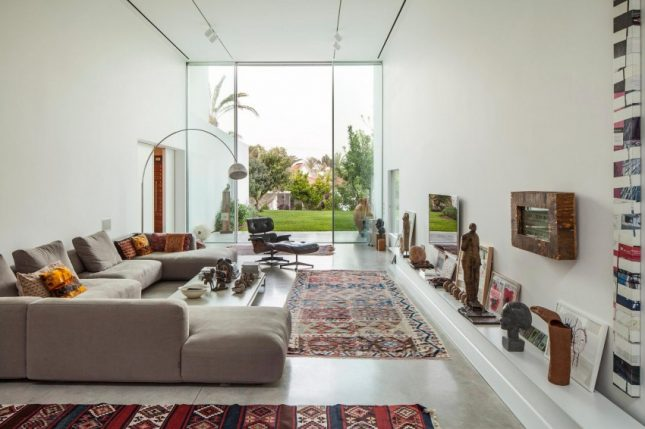 Moderne bohemien woonkamer interieur inrichting - Interieur inrichting moderne woonkamer ...