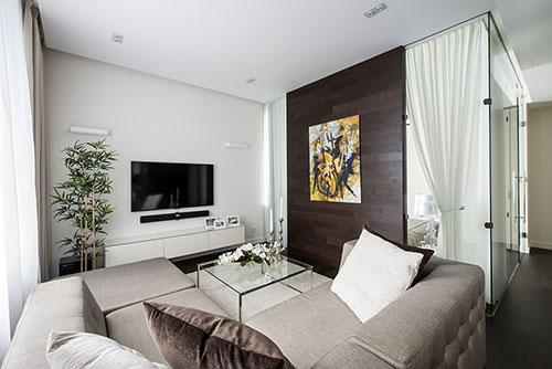 Klein Appartement Inrichting : Moderne interieur inrichting van klein appartement in moskou