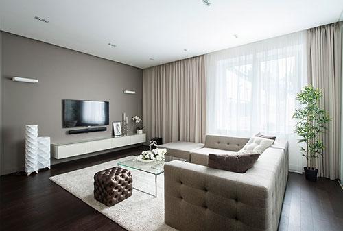 Moderne interieur inrichting van klein appartement in Moskou