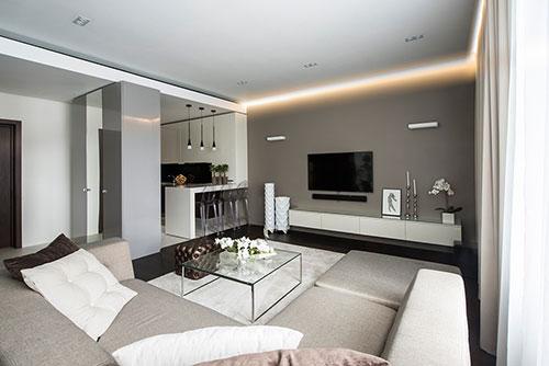 Moderne Interieur Inrichting Van Klein Appartement In