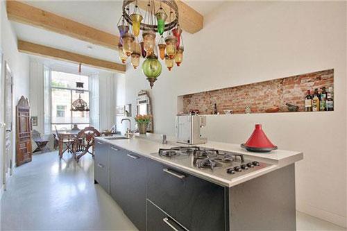 Moderne keuken in een monumentaal pand interieur inrichting - Keuken originele keuken ...