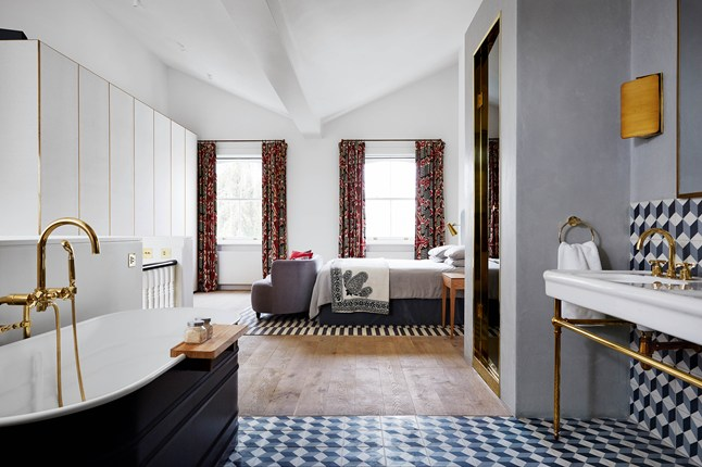 Open Concept Kitchen Living Room Different Flooring