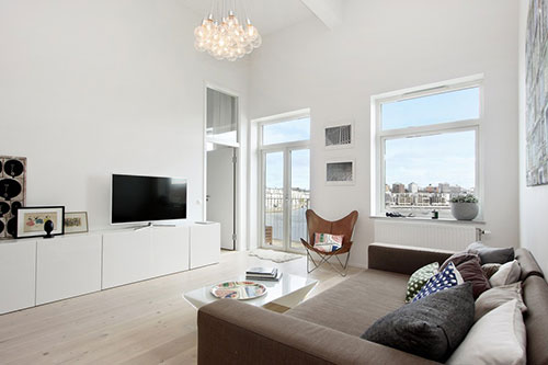 Moderne scandinavische loft interieur inrichting - Interieur modern design ...