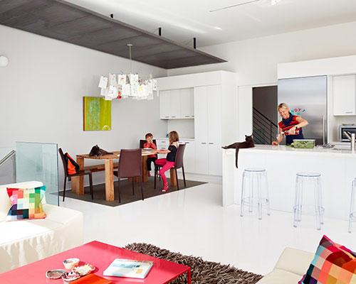 Moderne woning interieur van flip house interieur inrichting