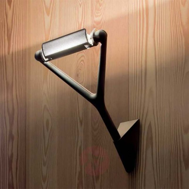 Moderne zwarte wandlamp