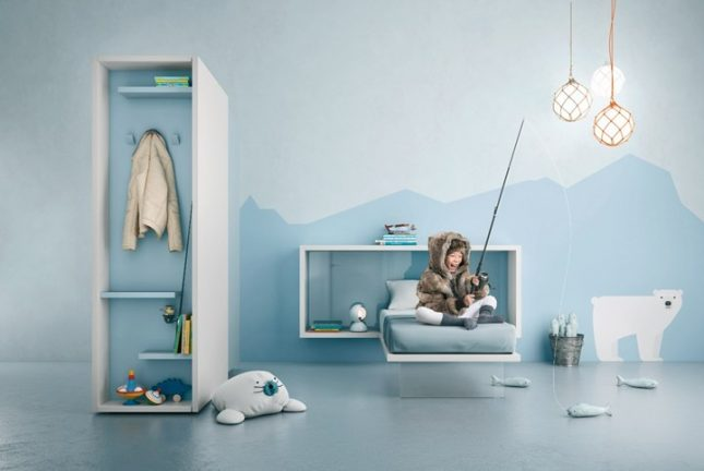 Moderne zwevende kinderkamer meubels van Lago