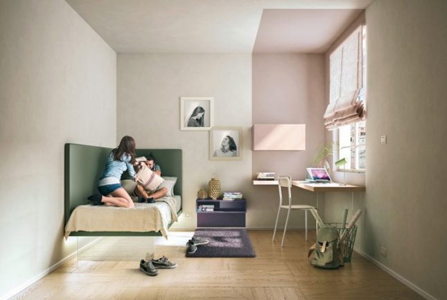 Moderne zwevende kinderkamer meubels van lago interieur for Jugendzimmer colori