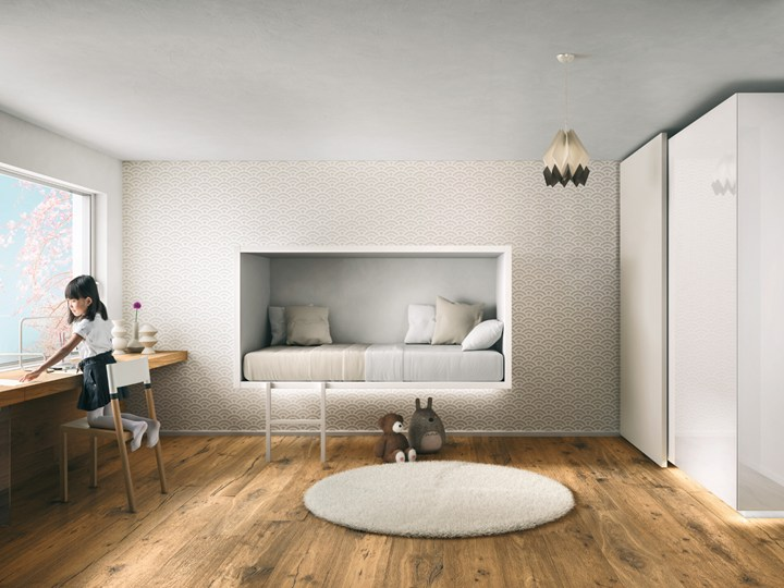 Moderne zwevende kinderkamer meubels van Lago   Interieur inrichting