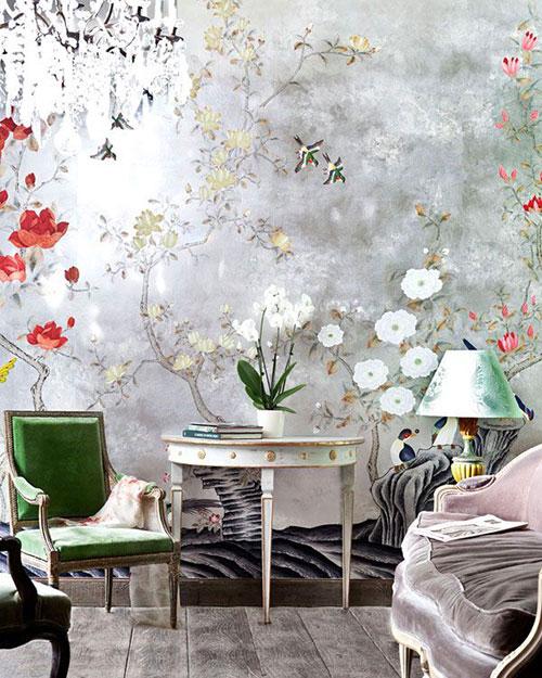 Mooi bloemetjes behang! | Interieur inrichting