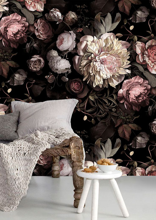 Mooi bloemetjes behang!