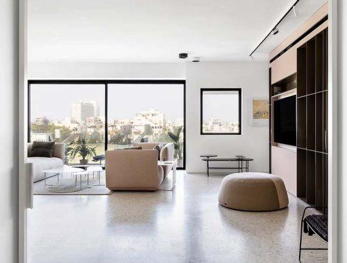 Mooi modern appartement van 100m2 in interieurontwerper door Yael Perry