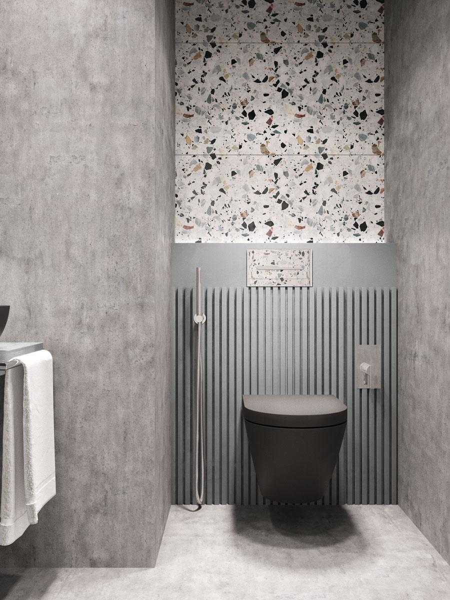 Mooi modern toiletontwerp met Terrazzo