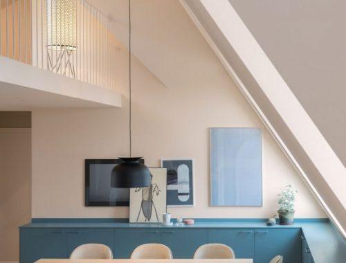 Mooie blauwe keuken