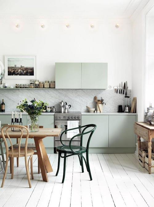 Mooie groene keuken