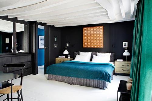 mooie kleuren combi in sfeervolle slaapkamer | interieur inrichting, Deco ideeën