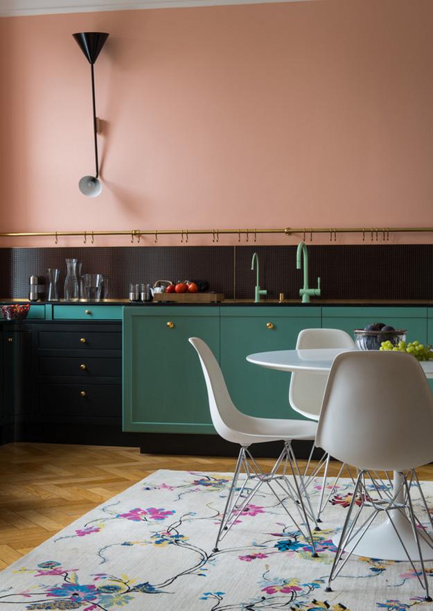 Mooie kleurencombinatie in vintage keuken | Interieur inrichting