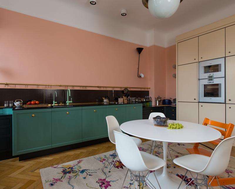 Mooie kleurencombinatie in vintage keuken interieur inrichting - Vintage keukens ...