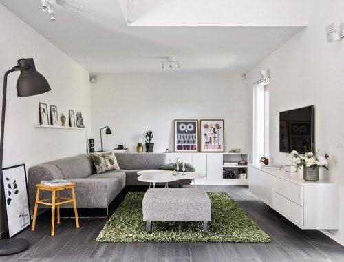 Mooie nieuwbouw woonkamer uit Stockholm