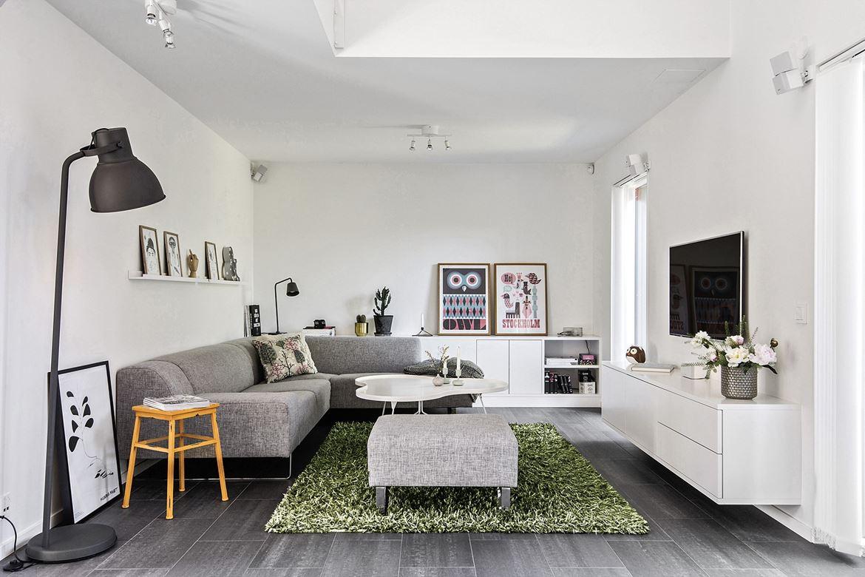 Mooie nieuwbouw woonkamer uit Stockholm | Interieur inrichting
