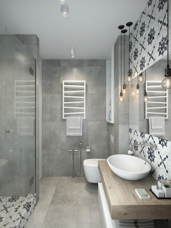 Mooie praktische badkamer van klein appartement van 29m2 interieur inrichting - Badkamer klein gebied m ...