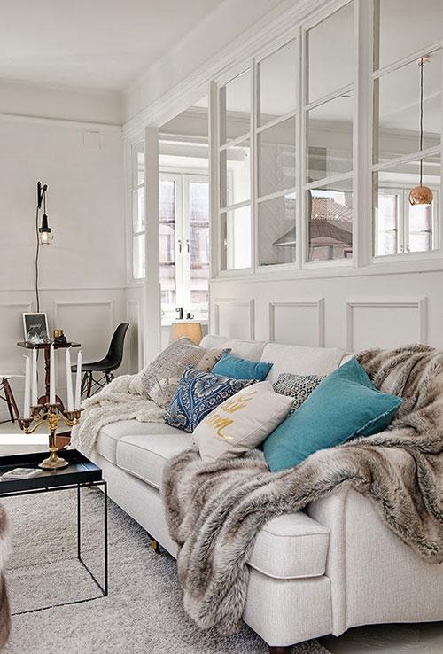 mooie scheidingswand tussen woonkamer en keuken | interieur inrichting, Deco ideeën