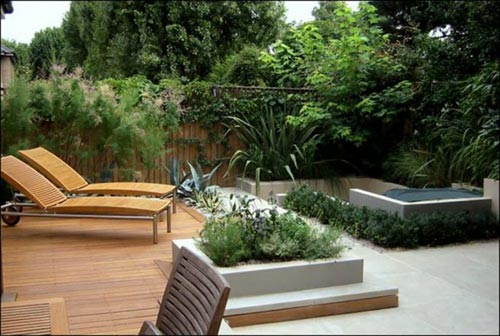 Mooie tuinen interieur inrichting for Modern garden decking designs