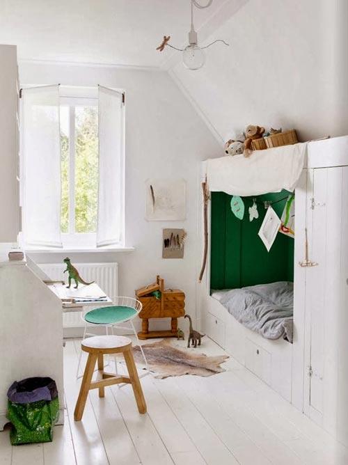 Mooie witte kinderkamers interieur inrichting - Kamer kleur man ...