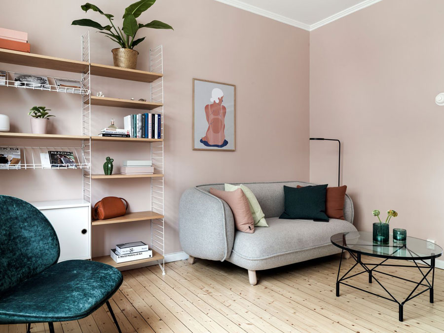 Leuke Slaapkamer Inrichting : Mooie woonkamer slaapkamer combinatie in een klein
