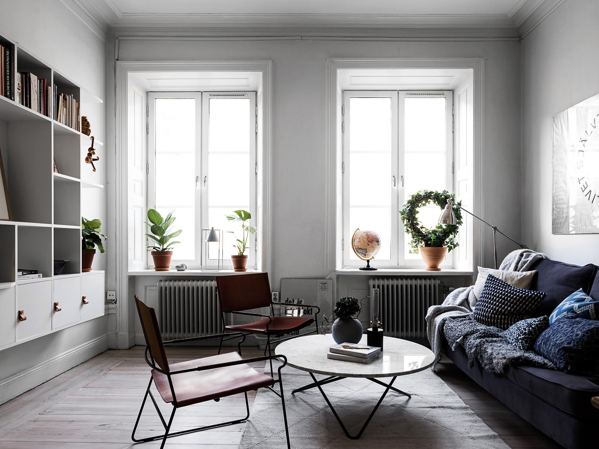 Mooie woonkamer van een klein appartement van 44m2