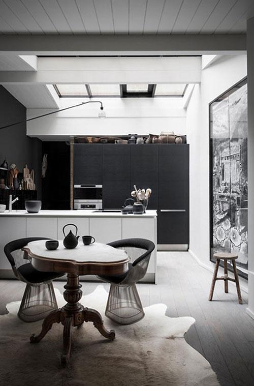 Witte Keuken Donkere Muur : Mooie zwart witte keuken Interieur inrichting