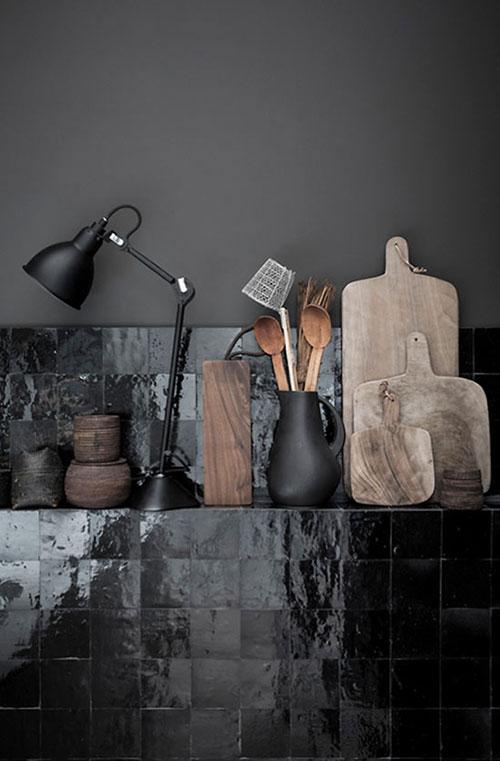 Zwarte Keuken Tegels : Mooie zwart witte keuken Interieur inrichting