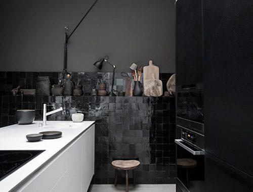 Mooie zwart witte keuken