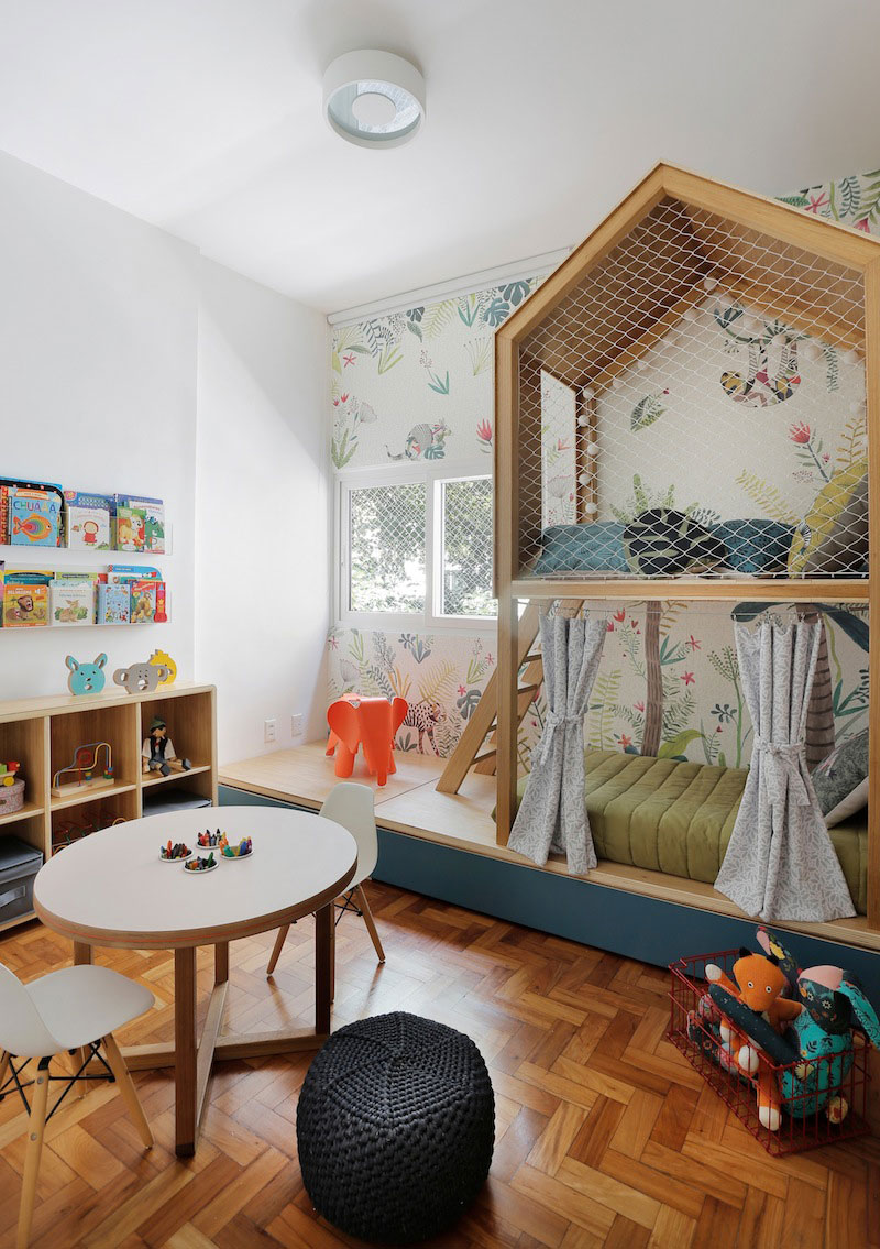 multifunctioneel  kinderbed huisje