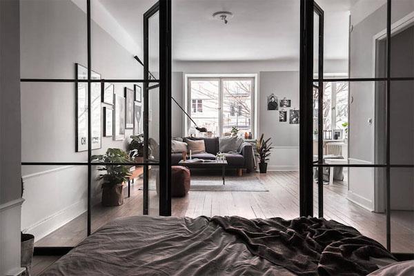 Muurinspiratie in een klein appartement