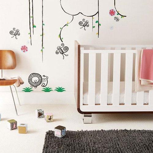 Muurstickers babykamer  Interieur inrichting