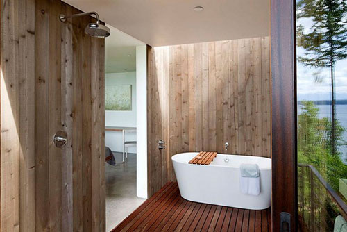 Natuurlijke badkamer idee n uit puget sound interieur for Pictures of beautiful small bathrooms