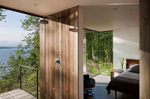 Natuurlijke badkamer ideeën uit Puget Sound