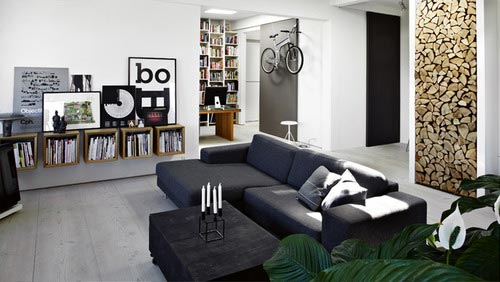 Ideeen Muur Woonkamer : Nette mannen woonkamer interieur inrichting