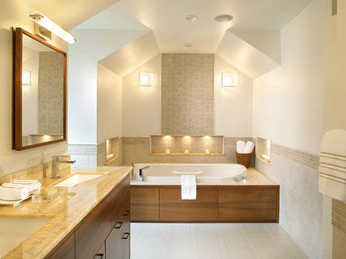 Neutrale badkamer ontwerpen interieur inrichting - Sfeer zen badkamer ...