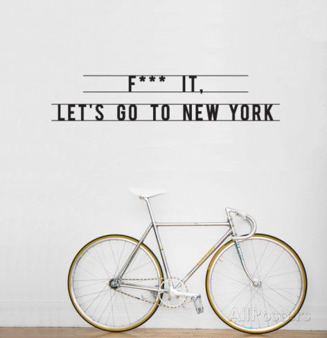 New York muur quote