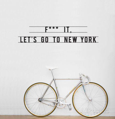 New York muur quote