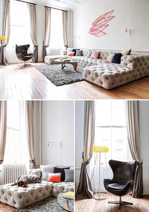 New Yorkse woonkamer vol met vintage vondsten