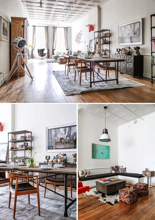New yorkse woonkamer vol met vintage vondsten interieur for Vintage woonkamer