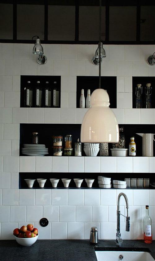 Keuken Muur : Nisjes in de keuken muur
