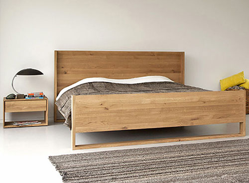 Houten oak nordic bed