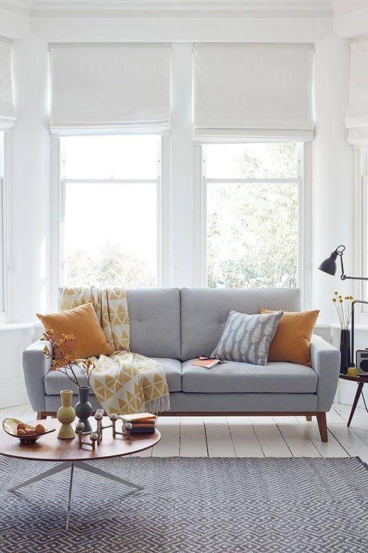 Okergeel interieur - okergele kussens