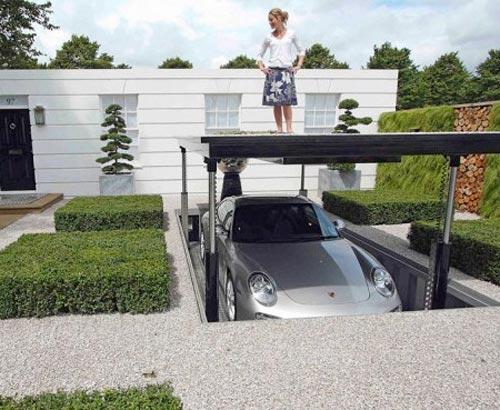Parkeren In Voortuin : Ondergrondse garage in de voortuin interieur inrichting