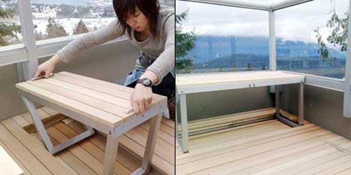 Ontwerp idee voor klein balkon